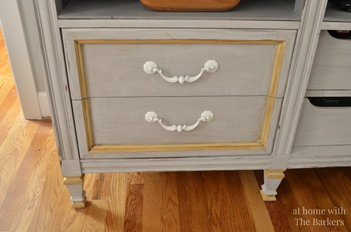 TV Stand Makeover-Two Toned Paint Technique