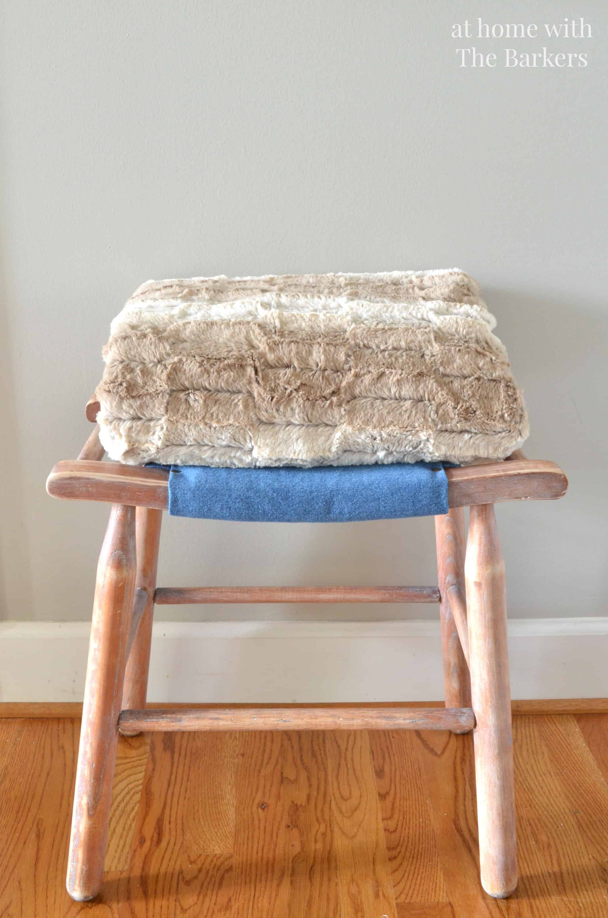Vintage Wood Stool Makeover