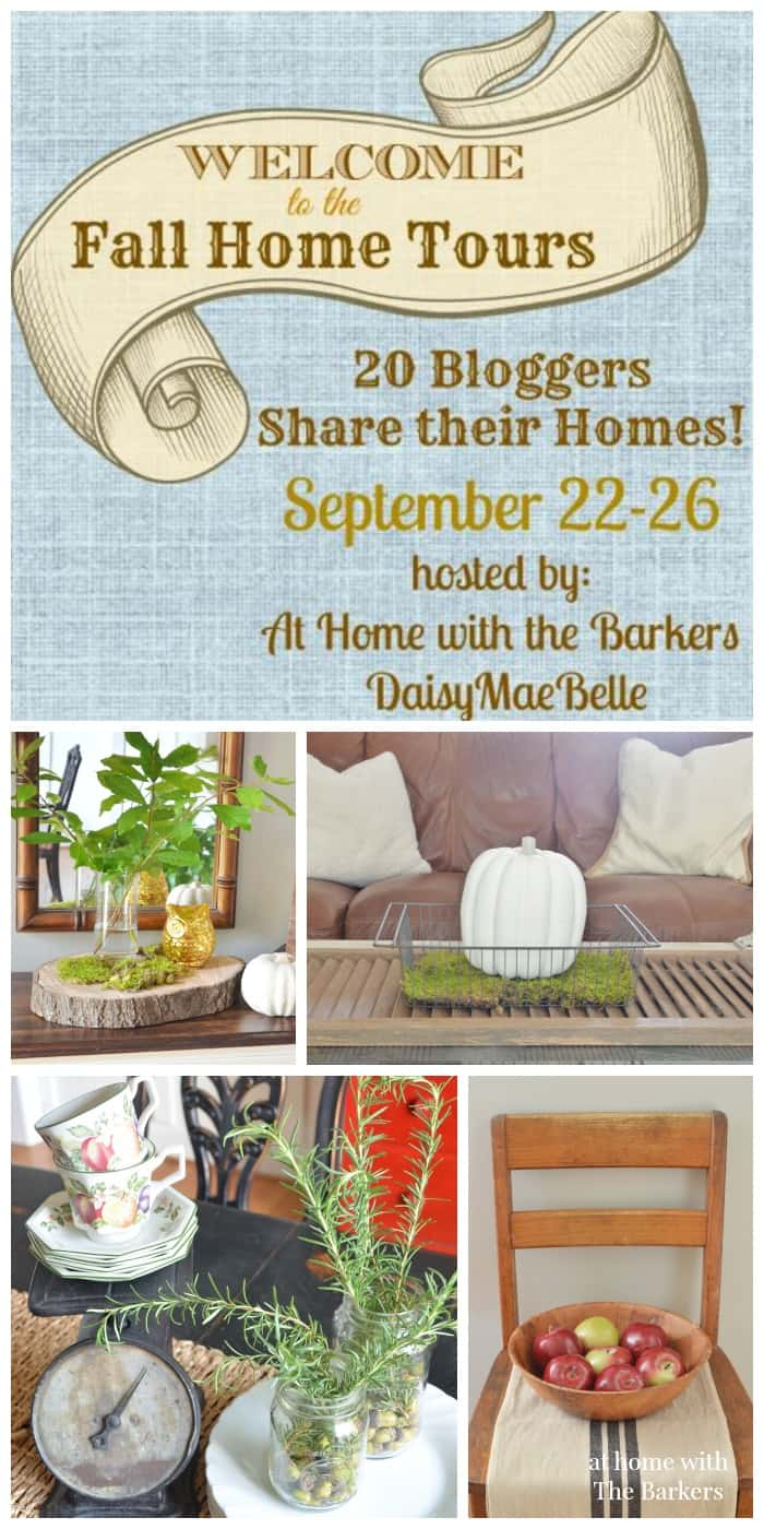 Fall Home Tour-Rustic Decor-At Home with The Barkers