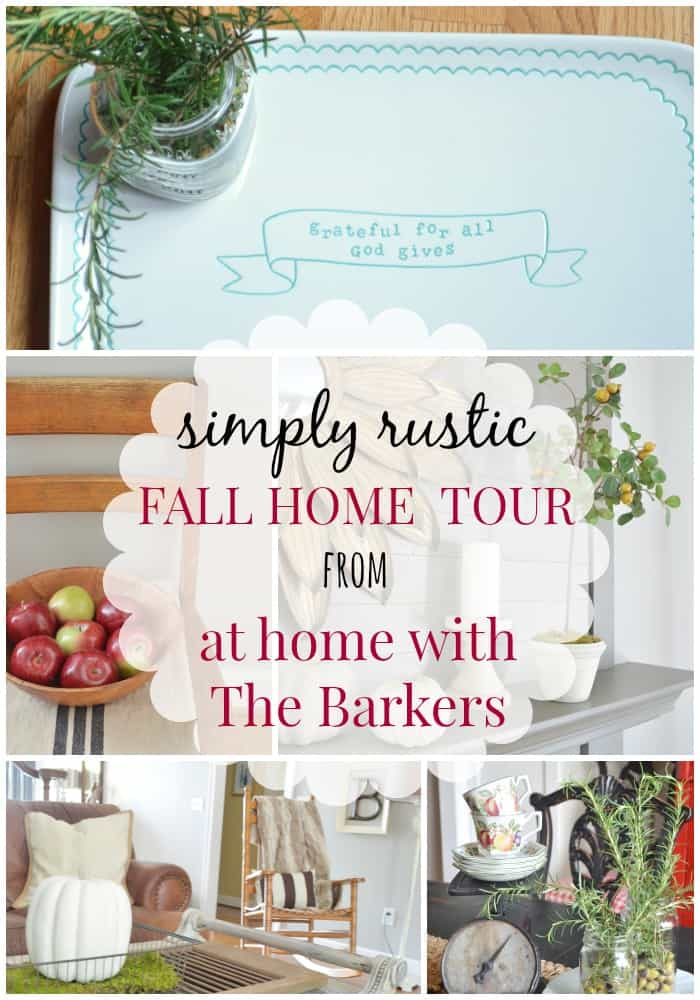 Simply Rustic Fall Decor-At Home with The Barkers