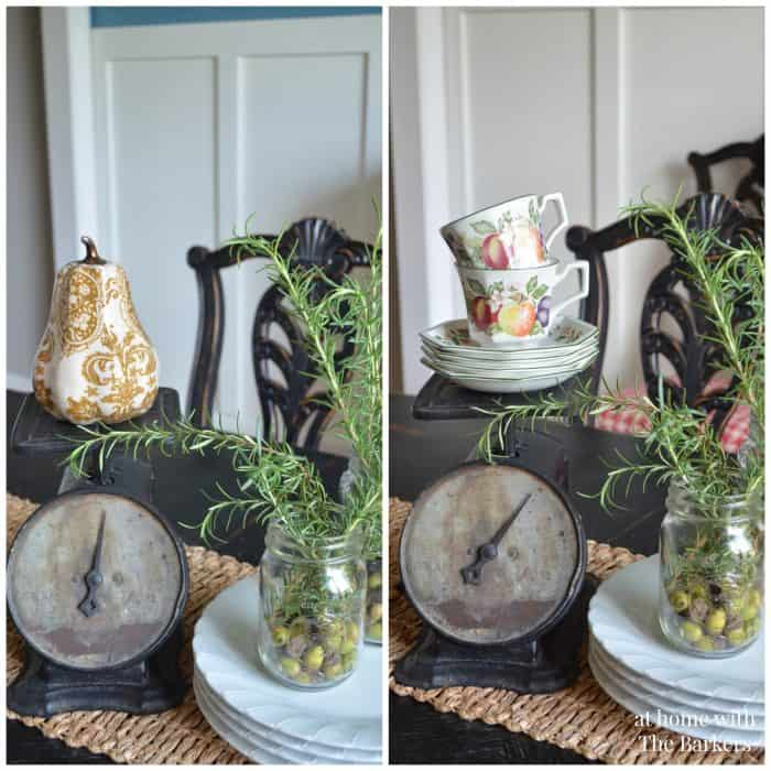Welcome Fall Home Tour-At Home with The Barkers-Vintage Scale Decor