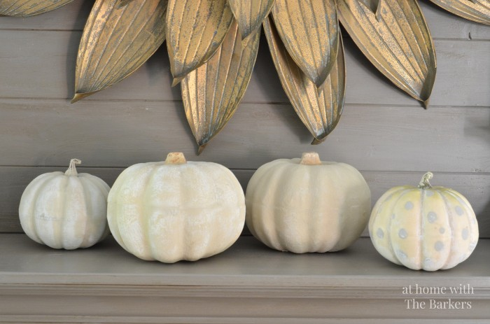 rustic fall decor, fall tour, painted pumpkins