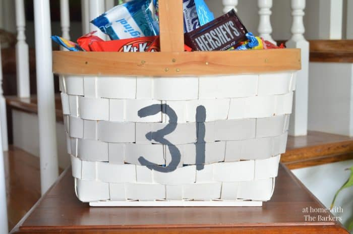 Painted Halloween Candy Basket
