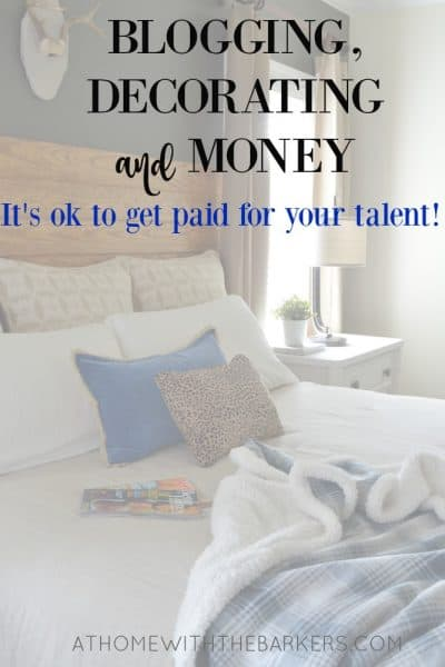 Blogging, Decorating and Money