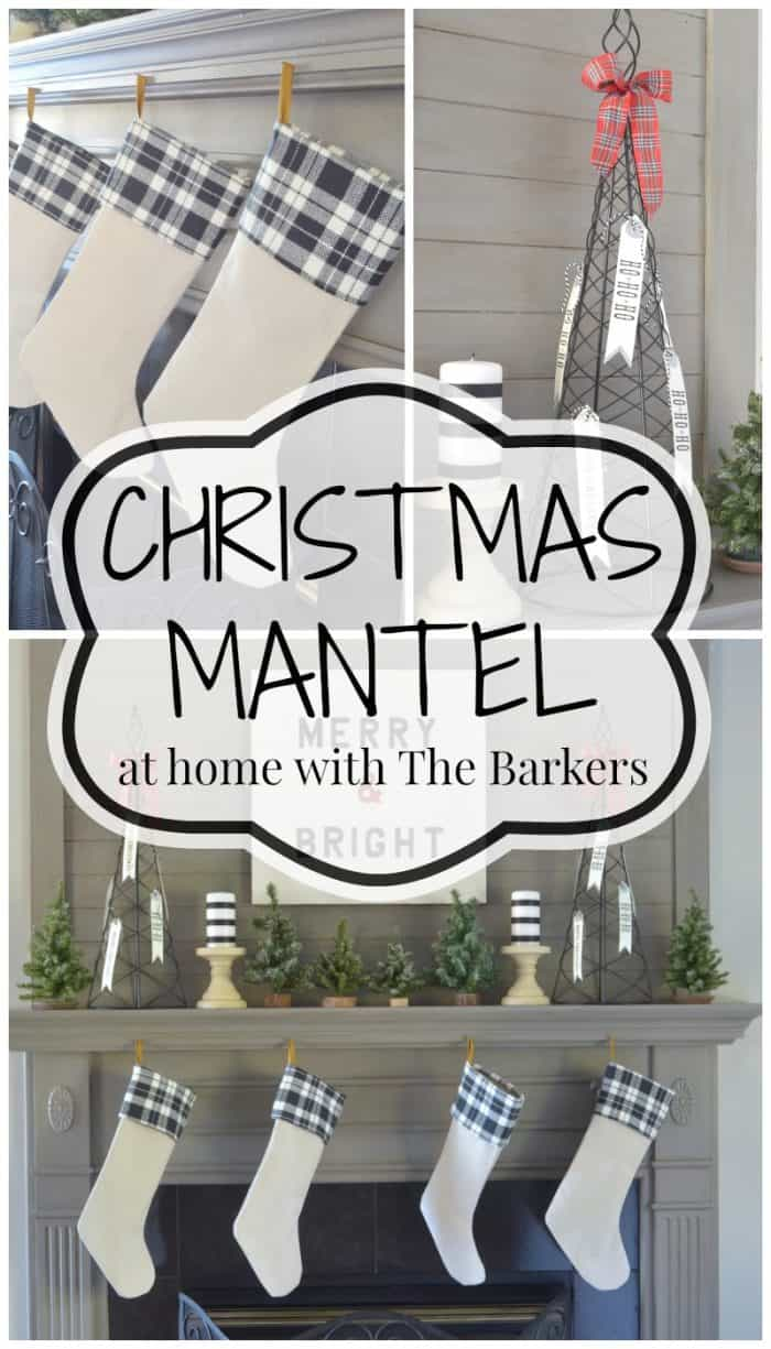 Christmas Mantel -At Home with The Barkers