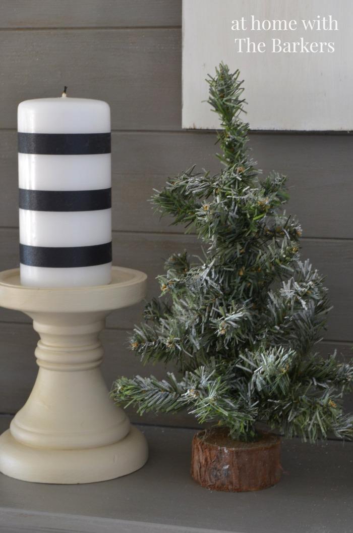 Christmas Mantel- Vintage Trees