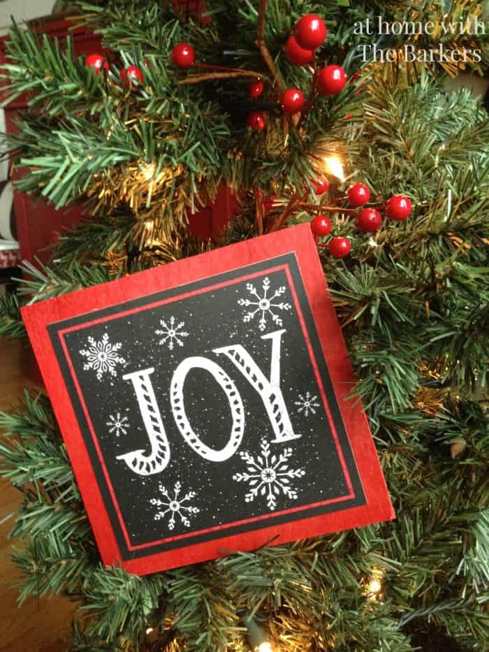 Christmas Sign inspired by Pottery Barn-Joy Sign