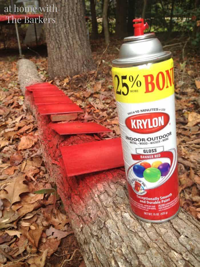 Christmas Sign inspired by Pottery Barn -Krylon Spray Paint
