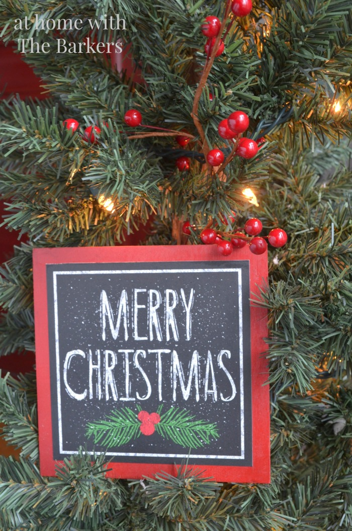 Christmas Sign inspired by Pottery Barn-Merry Christmas Sign