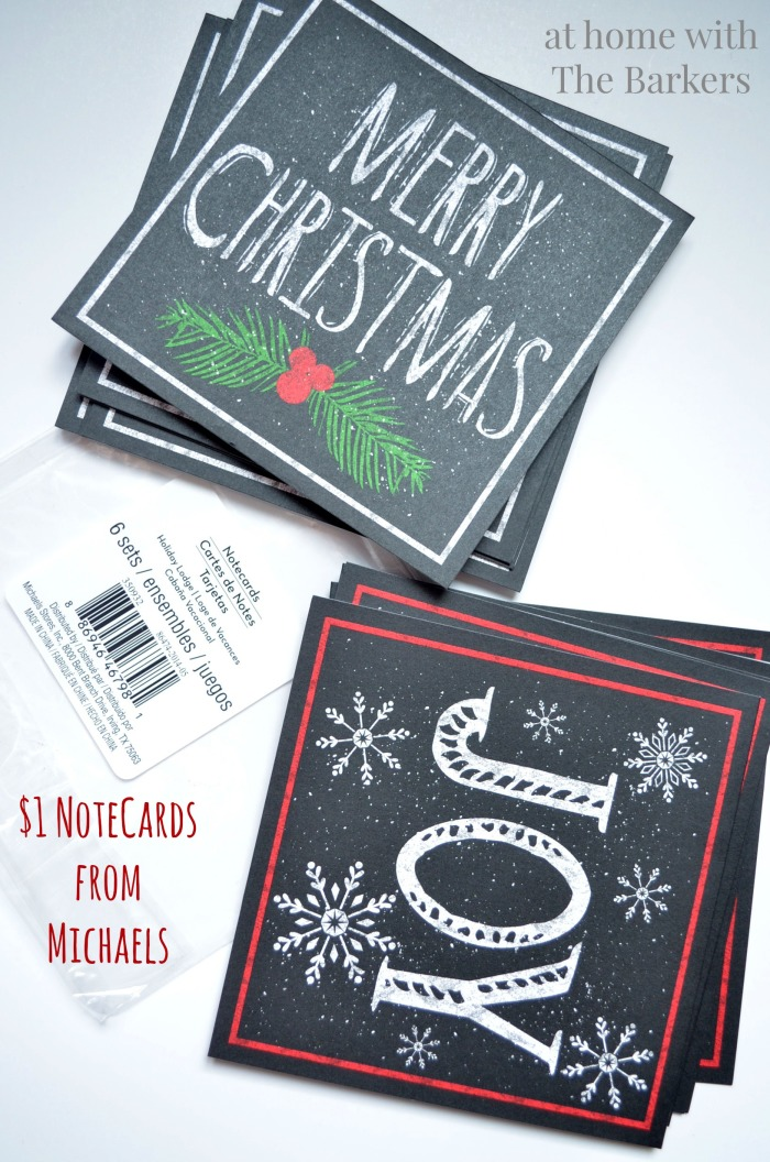 Christmas Sign inspired by Pottery Barn-Michaels Notecards