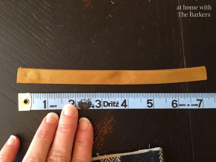 DIY Drop Cloth Christmas Stocking hook