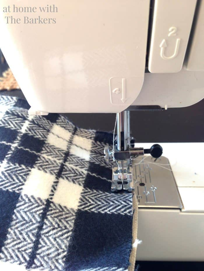 DIY Drop Cloth Stocking Sewing