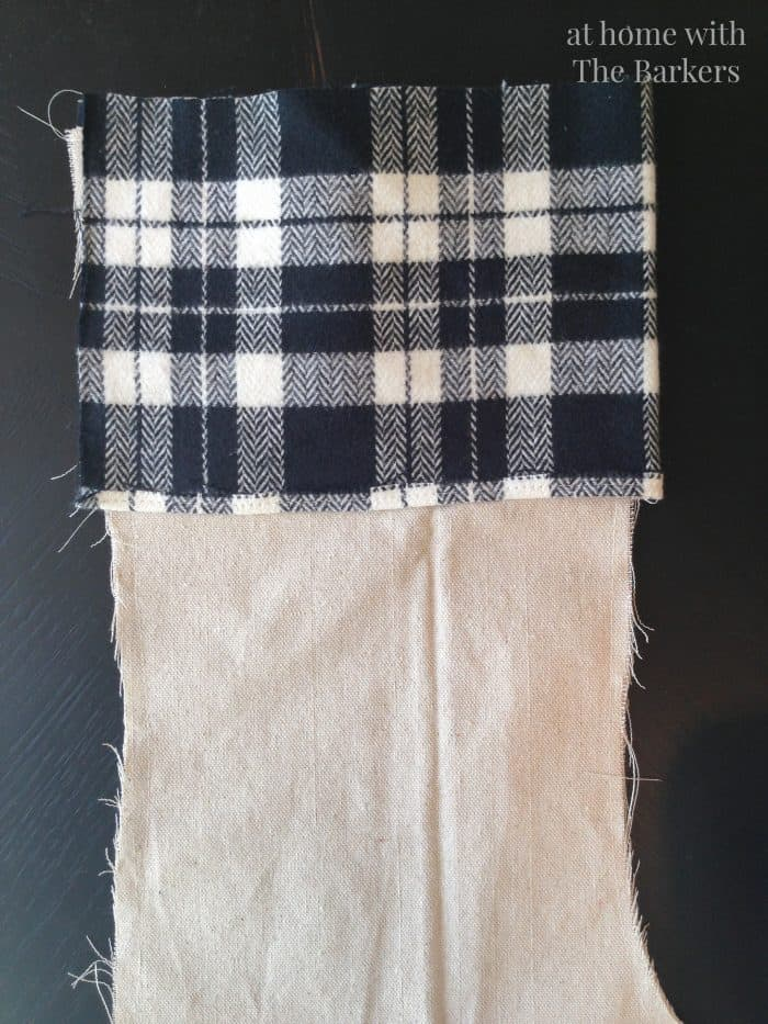 DIY Drop Cloth Stocking-Sewing Details
