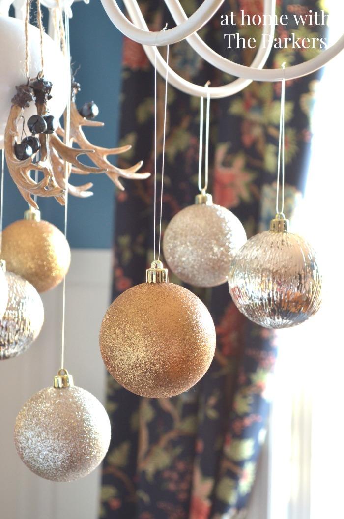 Dining Room Christmas Decor Chandelier