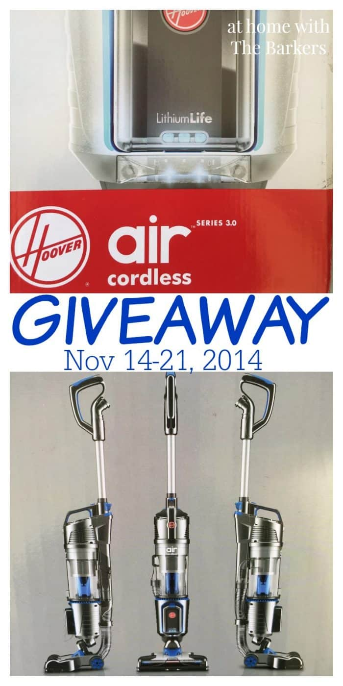 Hoover Air Cordless Vacuum Giveaway #HooverCleanUp #sponsored
