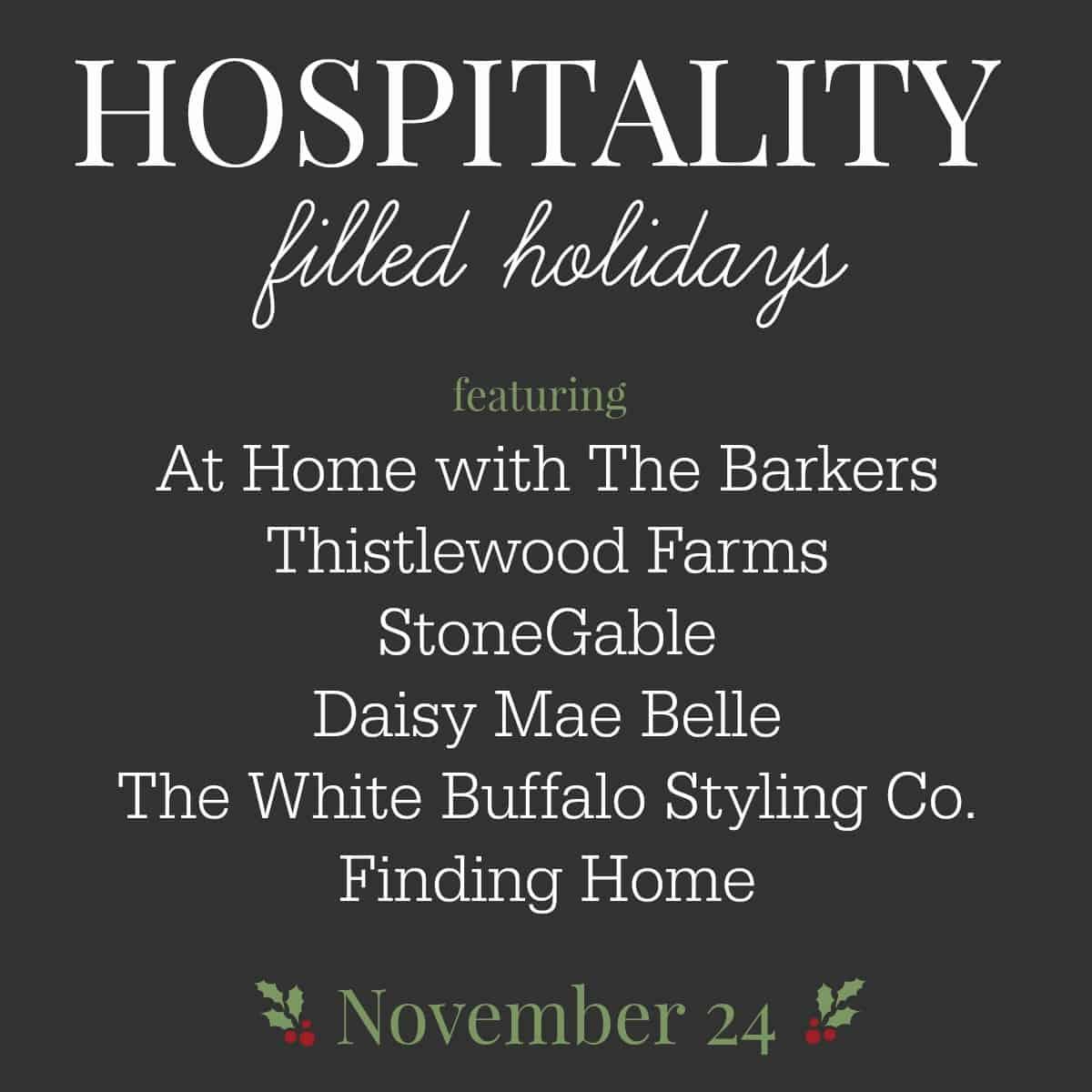 Hospitality filled Holiday