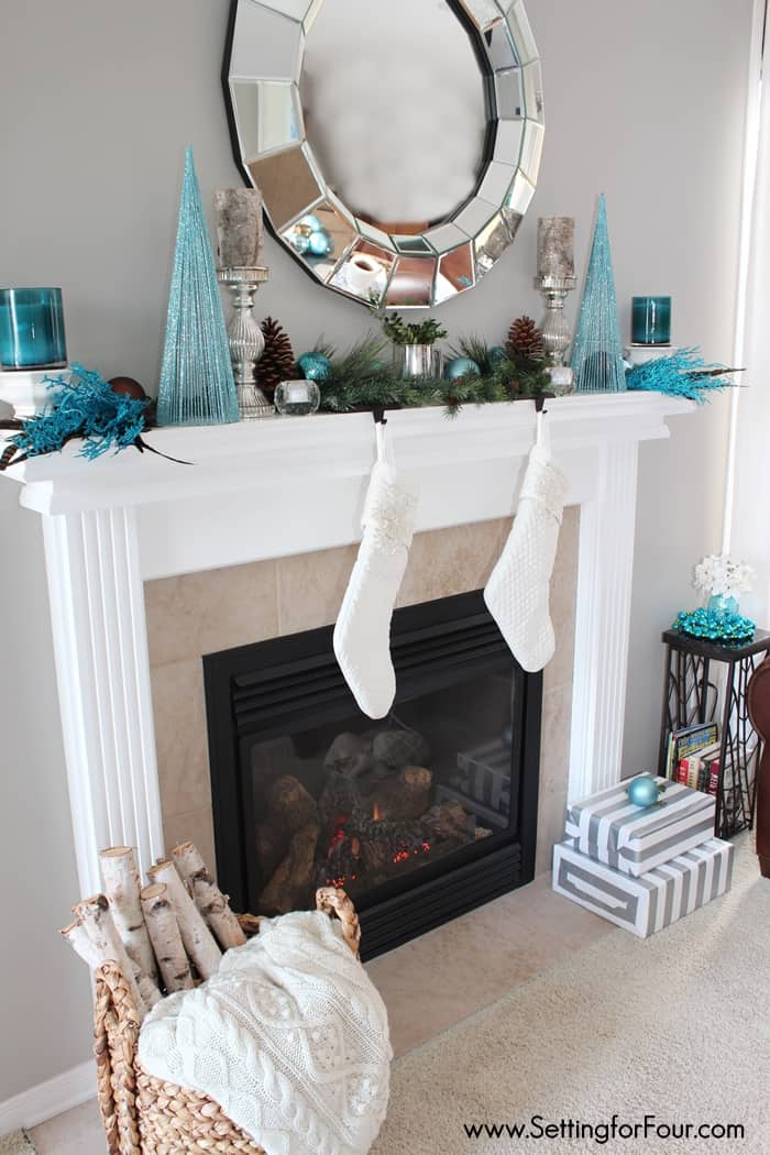 christmas mantel inspiration at home with the barkers christmas fireplace decorations ideas pinterest