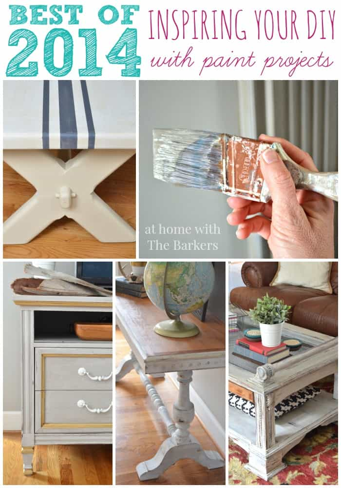 Best of 2014 Top Ten Posts about Paint from At Home with The Barkers
