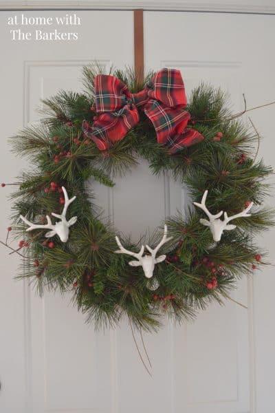Christmas House Tour- Deer head wreath