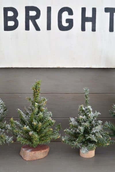 Christmas House Tour- Mantel Decor with Vintage trees
