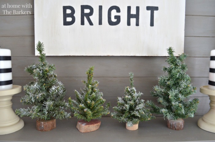 Christmas House Tour- Mantel Decor with Vintage trees
