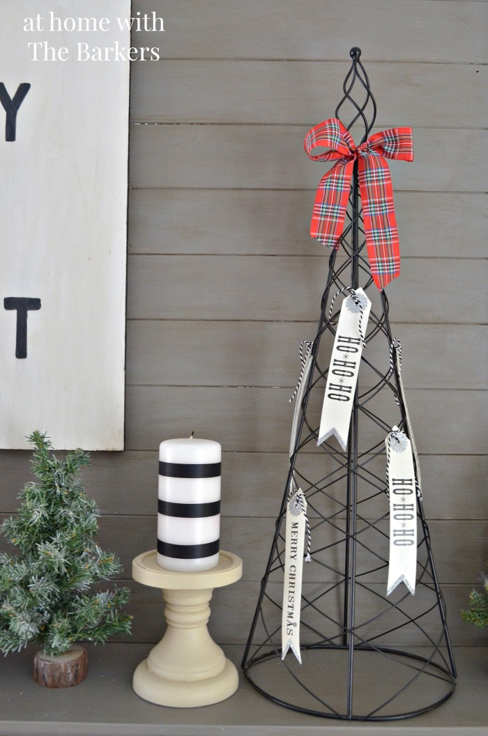 Christmas House Tour Mantel Wire Trees