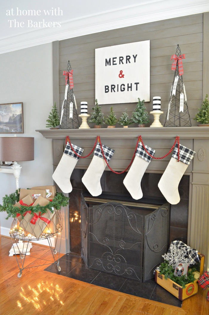 Christmas House Tour and DIY Stockings
