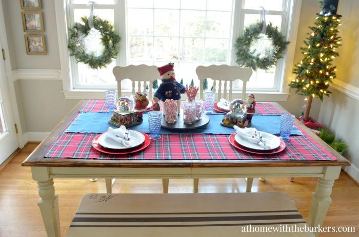 Christmas Table Setting for Christmas Morning