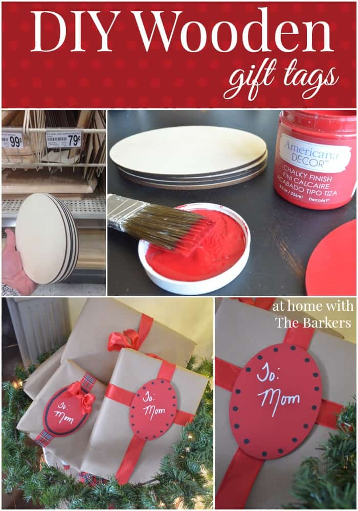 DIY Wooden Gift Tags for Christmas presents