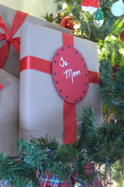 DIY Wooden Gift Tags with ribbon
