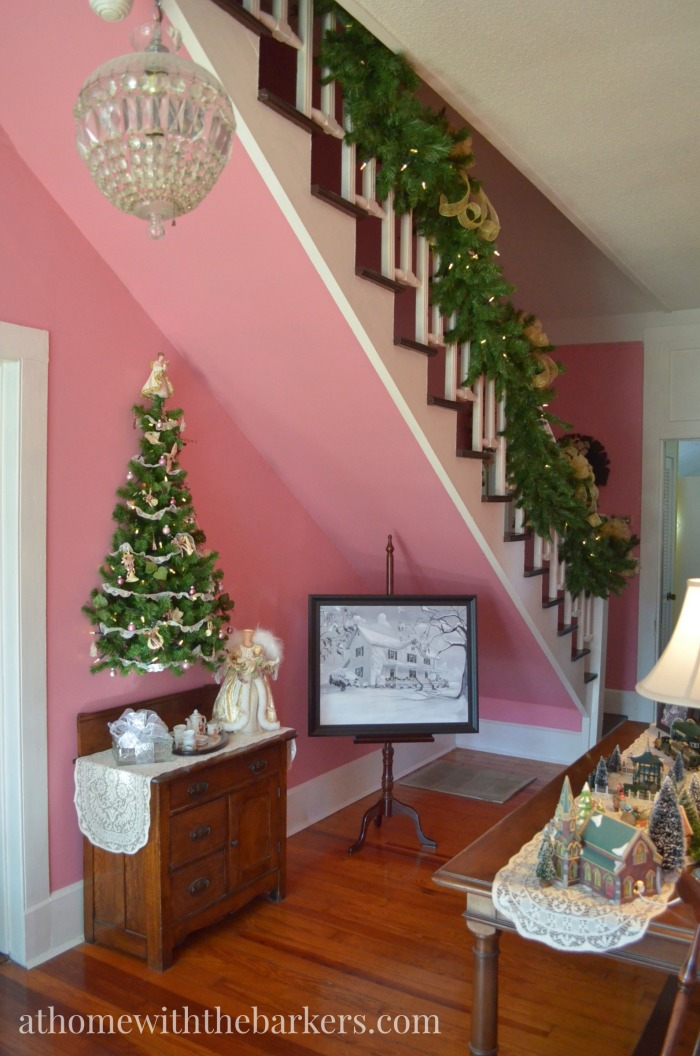 Victorian Farmhouse Christmas Foyer Tour