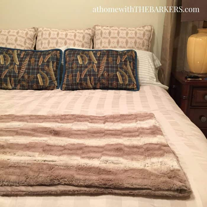 Choosing Bedding and mixing custom fabrics with store bought comforter