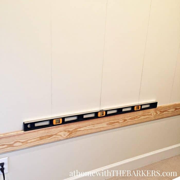DIY Headboard- Getting the first board level