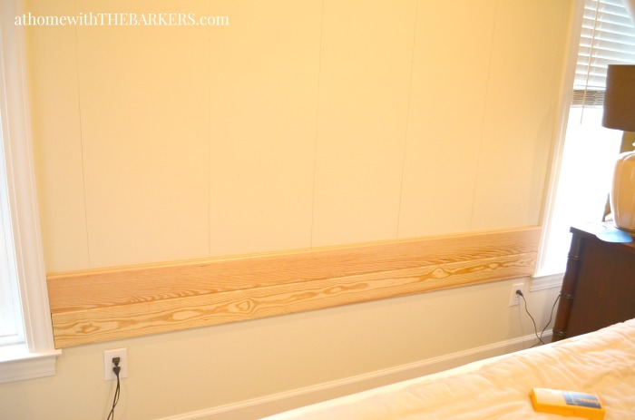 DIY Headboard Wood Plank