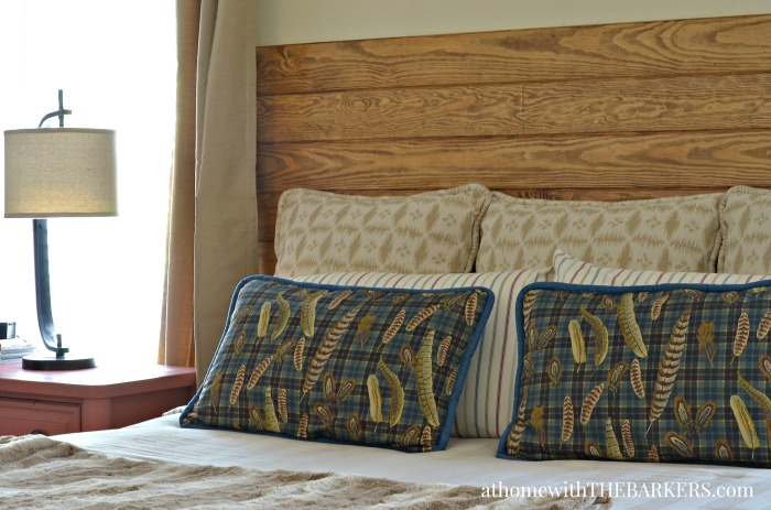 Diy headboard at home with the barkers Diy master bedroom makeover