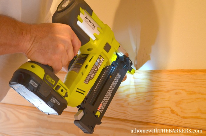 DIY Headboard installation using Ryobi AirStrike