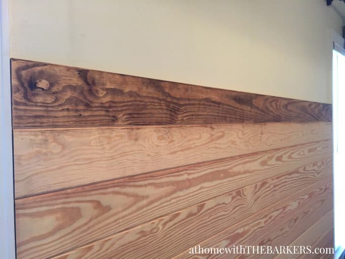DIY Wood Headboard using Pine Tongue and Groove boards