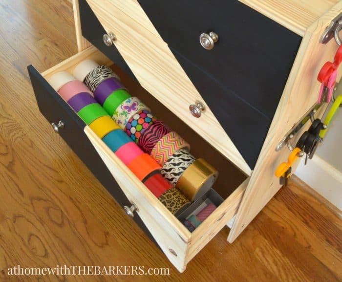 Rolling Craft Cart Ikea Rast Hack