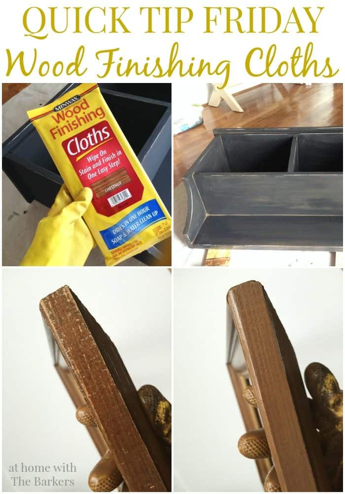 Quick Tip Friday Wood Finishing Cloths