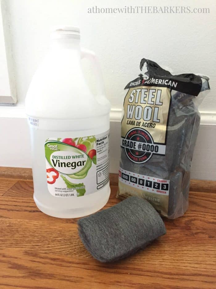 Brass Hardware cleaning supplies to restore furniture hardware