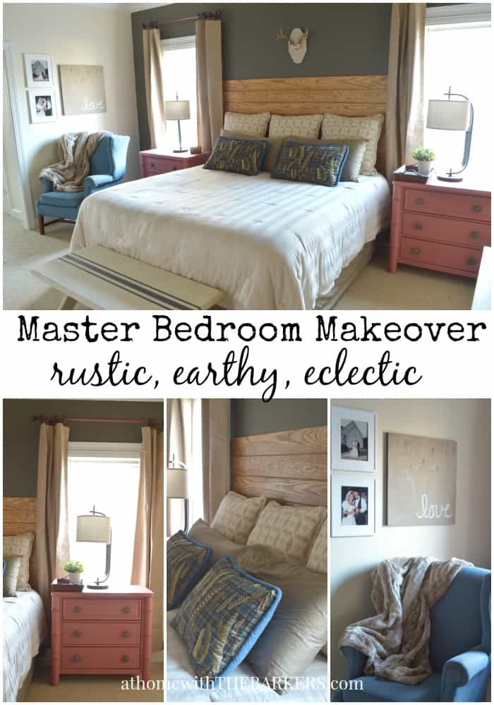 Rustic, Earthy and Eclectic Master bedroom makeover