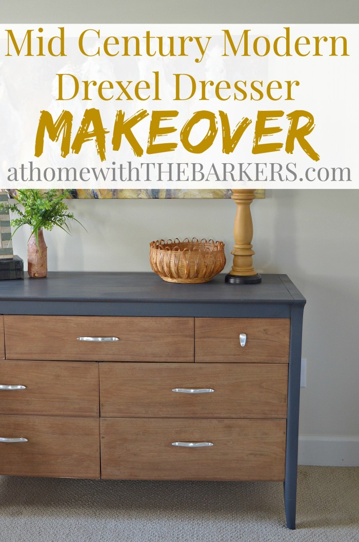Mid Century Modern Drexel Dresser Makeover At Home with The Barkers