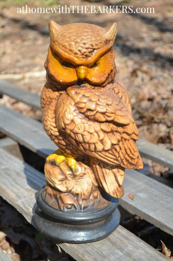 Nature Inspired Decor-Ceramic Owl