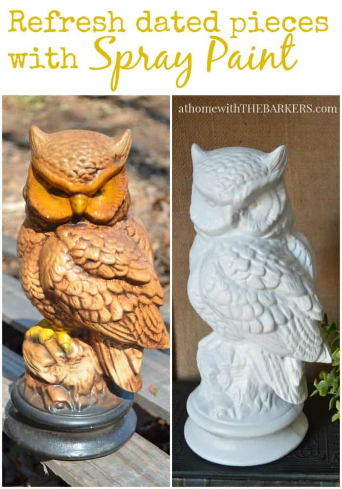 Quick Tip Friday Refresh dated pieces with Spray Paint