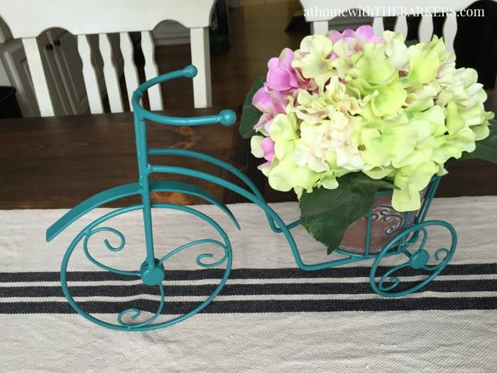 Thrift Store Iron Plant Stand Makeover-Table Centerpiece