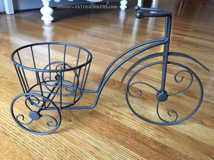 Thrift Store Iron Plant Stand Repurpose- Before
