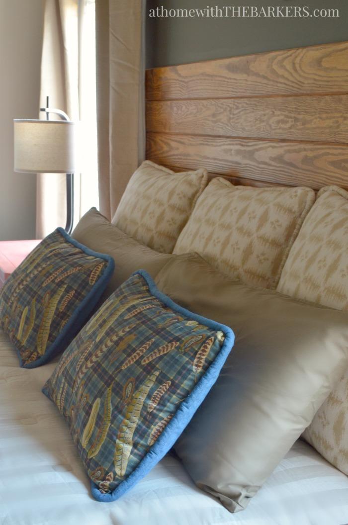 Master bedroom makeover fabric ideas