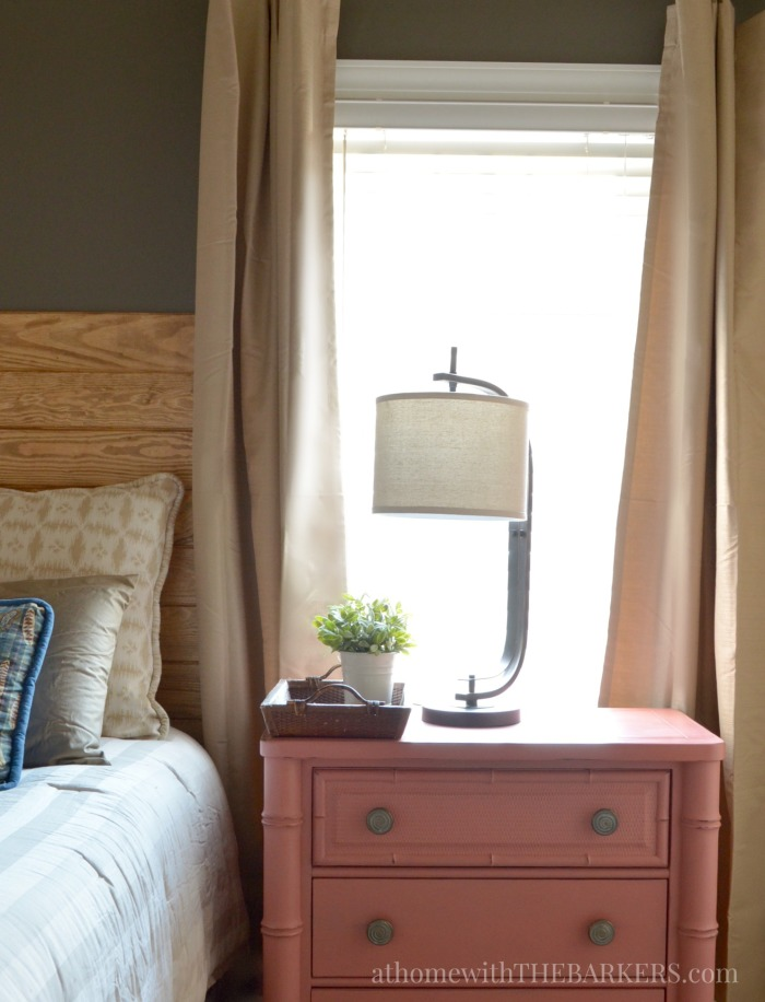 Master Bedroom Makeover including new lamps from HomeGoods