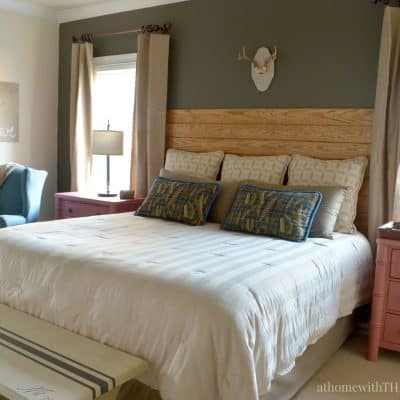 Master Bedroom Makeover including painted night stands