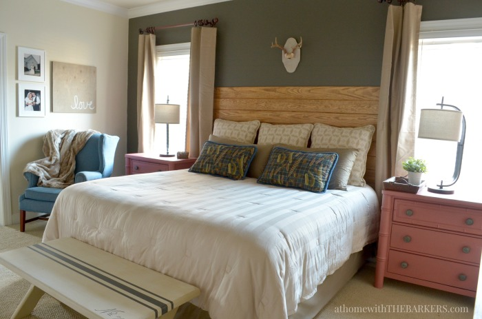 Lovely Master Bedroom Makeover Including Painted Night Stands